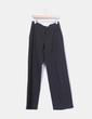 Pantalón sarga gris raya diplomática Armani Jeans