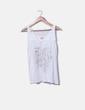 Camiseta tirantes  beige bordado dibujos Desigual