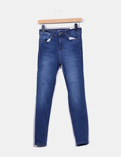 Pantalon denim color oscuro