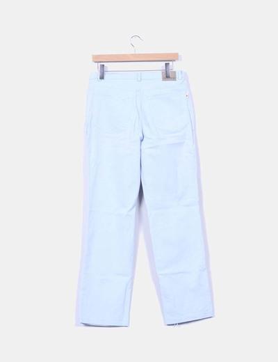 Pantalon pitillo azul pastel