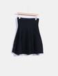 Falda midi negra combinada con pedrería Suiteblanco