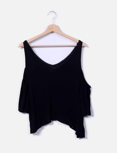 Blusa negra Pull&Bear