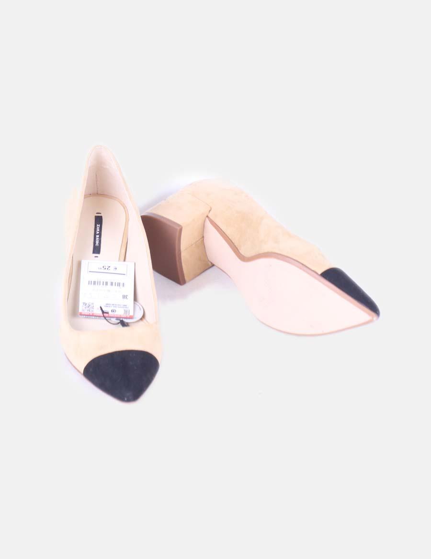 Zara Zapatos De Zapato Mujer Antelina Tgwzvf Bicolor q4waI4