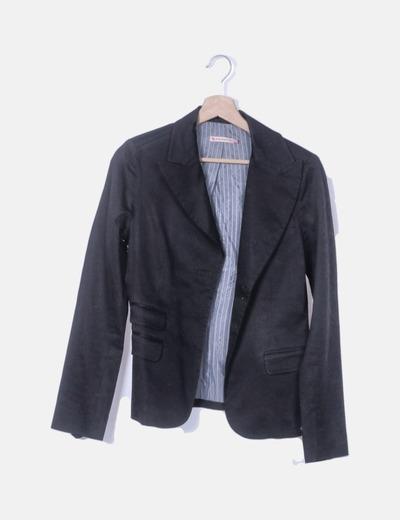 Blazer negro bolsillos