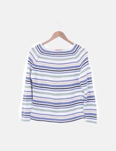 Jersey tricot rayas combiandas