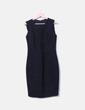 Vestido negro texturizado Zara