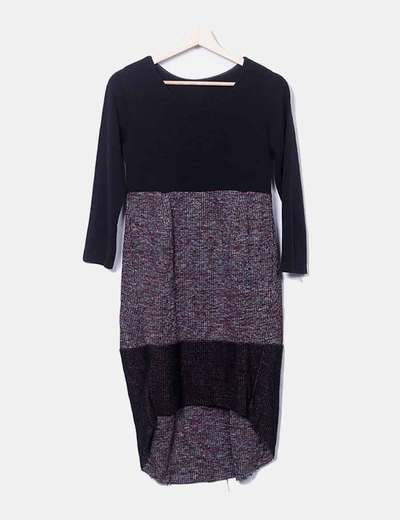 Robe noire en tricot Made in Italy
