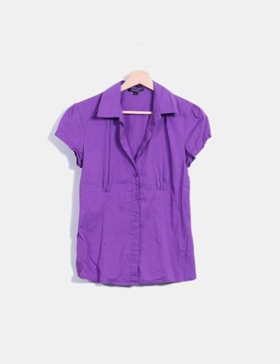Camisa morada manga corta Amisu