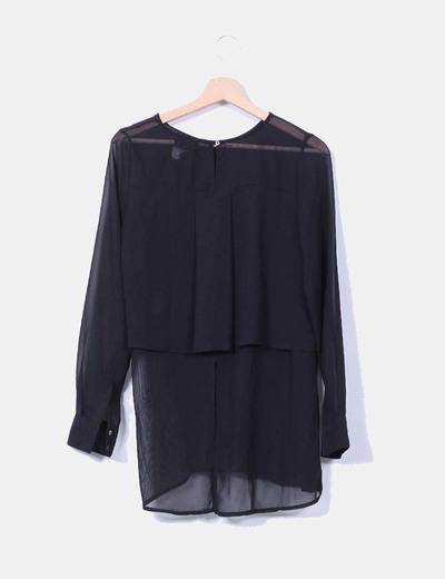Bluson negro combinado