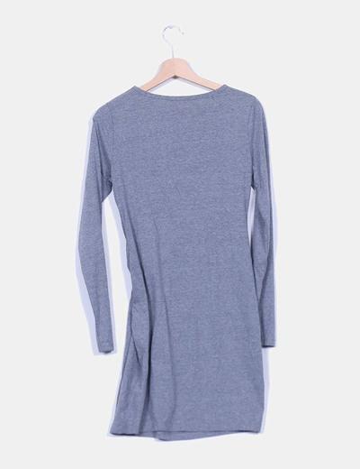 Vestido gris ajustado