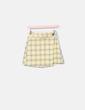 Falda amarilla de cuadros Bershka