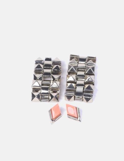 Conjunto de pulseras y pendientes gold