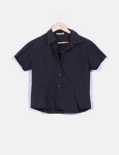 Camisa negra manga corta Paco Rogel