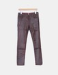 Pantalón denim marrón efecto envejecido Reiko Jeans