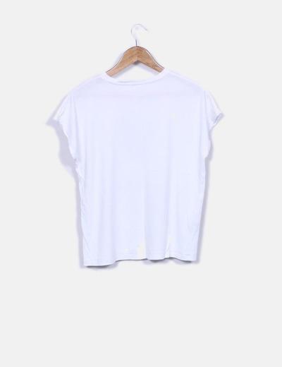 Camiseta blanca print dog