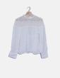 Blusa blanca con encaje Mademoiselle