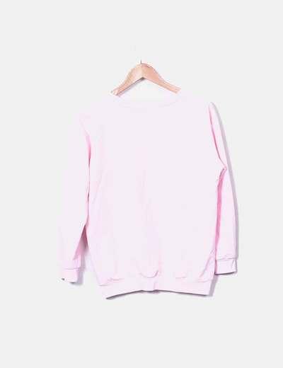 Sudadera rosa print