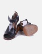 Sandales plate noires -forme Bimba&Lola