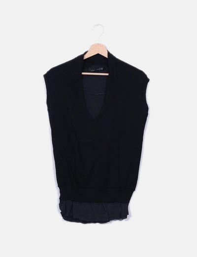 Mangas Negra Sin 95Micolet Zara Blusa Doble Texturadescuento jSzMVpGLUq