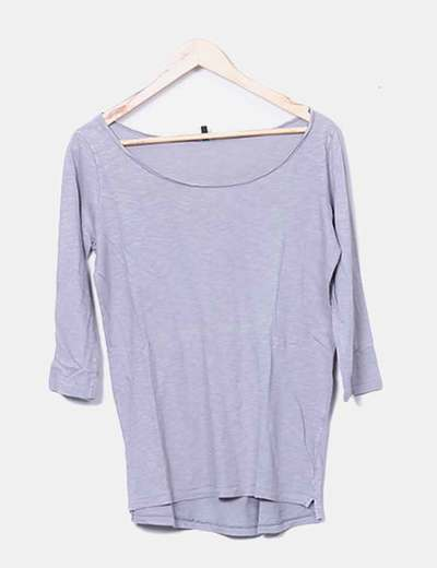 Camiseta gris lisa Benetton