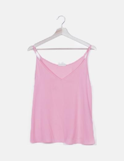 Blusa flúor rosa