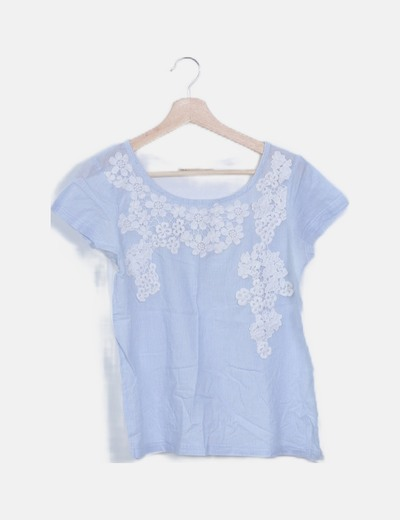 Blusa combinada de rayas estampado floral