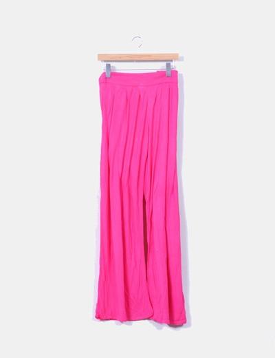 Pantalón rosa fluido Mango