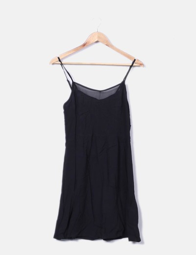 Vestido negro de tirantes H&M