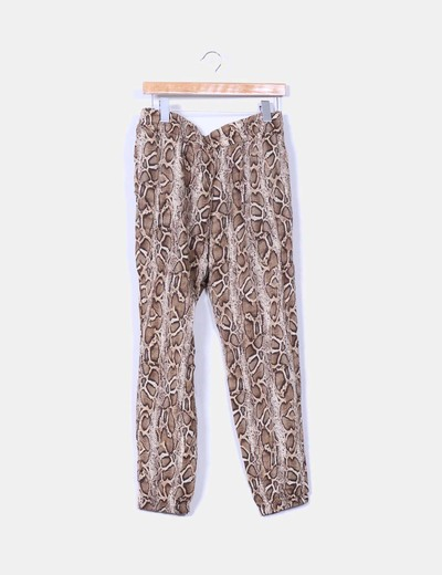 Pantalon baggy animal print