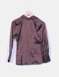 Blusa marrón satinada manga larga Domicci