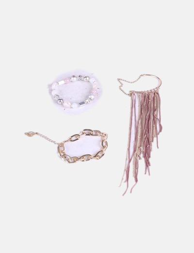 Pack pulseras y accesorio oreja