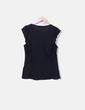 Camiseta negra detalle volantes New Look