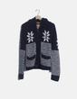 Chaqueta tricot capucha estampada Tailoring the standards