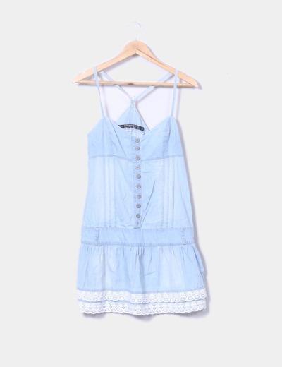 Vestido tirantes denim azul claro