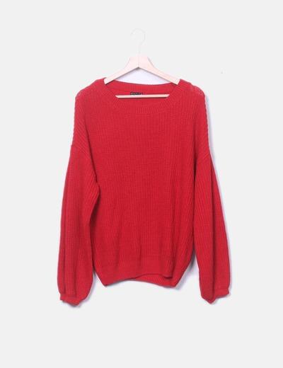 Jersey tricot rojo Stradivarius
