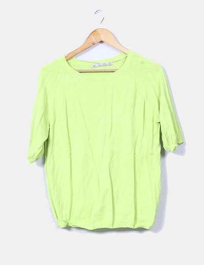 Jersey verde flúor Zara