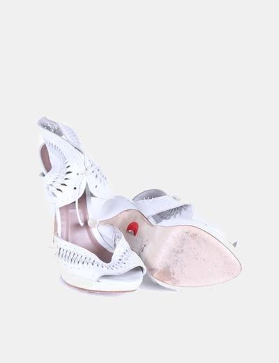 Sandalia blanca troquelada