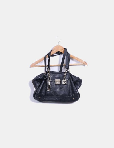 Bolso shoulder negro DKNY