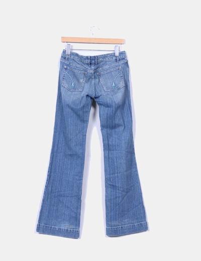 Jeans denim campana azul medio