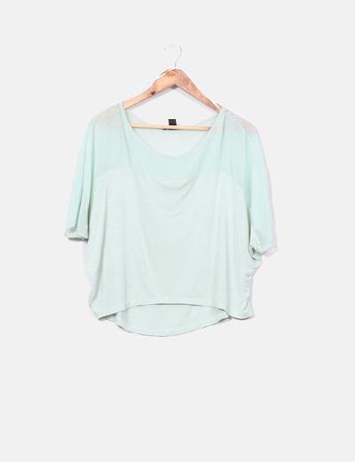 Blusa verde mint Mango