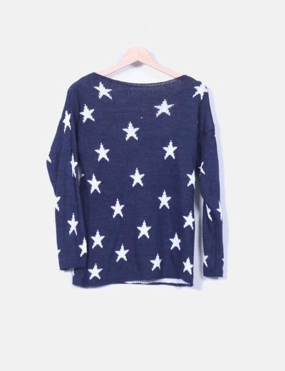 Jersey azul marino print estrellas