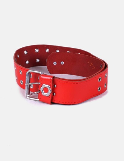 Cinturón rojo troquelado