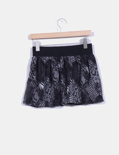 Mini falda print animal
