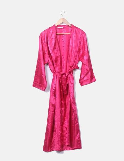 Kimono de manga larga satinado