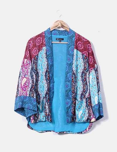 Kimono satinado estampado Zara