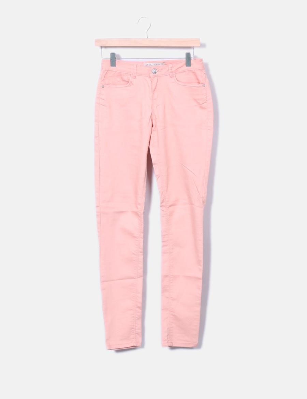 mujer pitillo Pantalones Pantalón coral baratos Lefties 4Spq408a ... 72fa0dc9b268