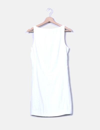 10d9d2df4 Zara Vestido recto blanco (descuento 77%) - Micolet