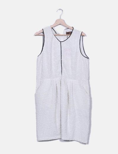 Vestido crudo texturizado Rosa Palo