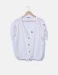 Camisa fluida blanca detalle botones Stradivarius