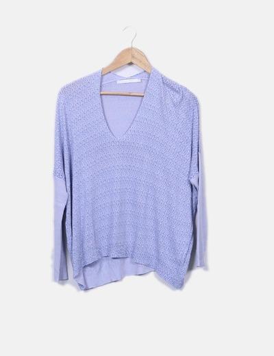 9182041bfe50f Lauren Vidal Camisola tricô azul (desconto de 90%) - Micolet